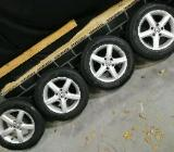 4x original VW Golf 7 Alufelgen 6x15 Et43  Michelin Alpin Winterreifen 195/65R15 - Wardenburg