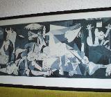 Riesig! Pablo Picasso, Guernica; gerahmt unter Glas ca. 150x80 cm - Bremen