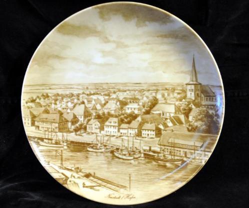 Wandteller / Heimatteller - Motiv: Neustadt in Holstein / Hafen - Achim