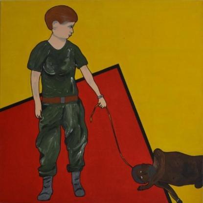 """Acrylbild """"Two Prisoners in Abu-Ghuraib"""" von Ramke.Art - Bremen"""