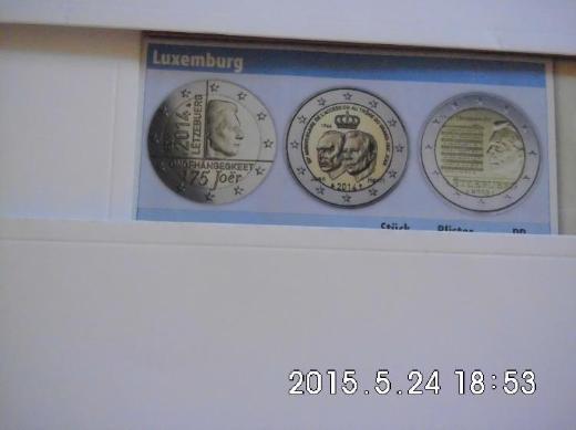Luxemburg 2 Euro Gedenkmünzen - Bremen Woltmershausen