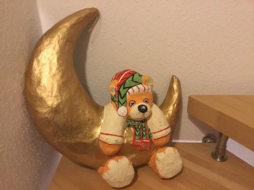 Bär mit Mond Pappmaché - Bremen
