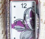Elegante Edelstahl-Damenuhr mit Lederarmband, Batterie neu, jetzt hier ansehen! - Diepholz