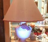 Wohnzimmerlampe, Keramik, weiß mit blauen Reben - Gnarrenburg