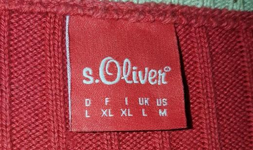 S.Oliver Red Label Strick Pullover im Inside-Out-Look Grösse L - Verden (Aller)