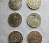 10 DM Silbermünzen : 6 Stück : Noch aktuell 15.01.2020 - Achim