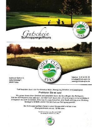 Gutschein Golf Club Syke Schnupperkurs