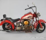 Blechspielzeug Motorrad - Motor Cycle - rot - Antik - ca. 36 cm - Scheeßel