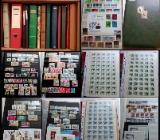 Briefmarken Deutschland und Welt 12 Alben einiges in Postfrisch mit ganze Briefmarken Bogenware. - Bremen