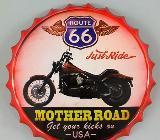 Blechschild Route 66 - Motherroad - rund - 36 cm - Scheeßel