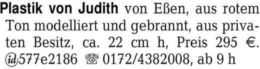 Plastik von Judith von Eß -