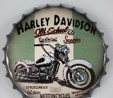 Blechschild Harley Davidson - rund - 35 cm - Scheeßel