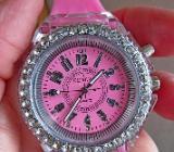 """Ein """"Blickfang"""": Multicolor-Armbanduhr, Strass, LED-Illumination, Silikonarmband, ungetragen, neu - Diepholz"""