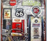 Blechschild Route 66 - Dixies - 33x25 cm - Scheeßel