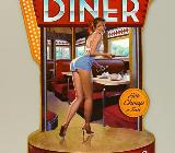 Blechschild Diner - Pin Up Girl - 44x30 cm - Scheeßel