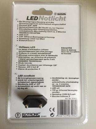 Isotronic PIR-LED Notlicht mit Bewegungs- und Dämmerungssensor - Bremen