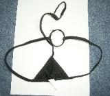 extravaganter String-schwarz-2 Schlaufen-neu - Syke