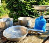 Camping Geschirr, Topf-Set (5-teilig) & Kocher - Worpswede