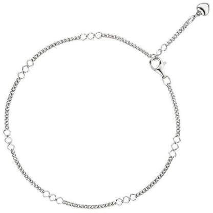 Fußkette Herz 925 Sterling Silber rhodiniert 27 cm NEUWARE - Holdorf