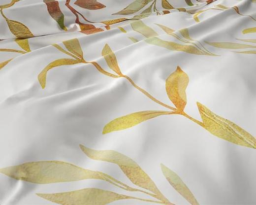 Bettwäsche Clover Cream Satin 240x220 ReVyt - Friesoythe