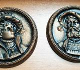Wandrelief Antike Bilder rund 14 cm Durchmesser - Verden (Aller)