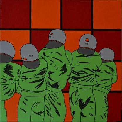 """Acrylbild """"Men With A Number"""" von Ramke.Art - Bremen"""