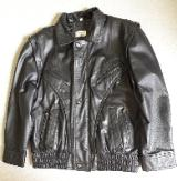 Lederjacke - auch als Weste zu tragen