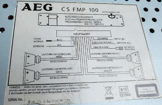 AEG CS FMP 100 CD / MP3 Autoradio - Verden (Aller)
