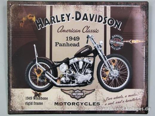 Blechschild Harley Davidson - 25x20 cm - Scheeßel