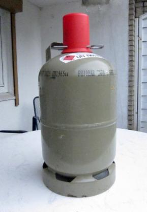 Propangasflasche grau 5kg mit Schutzappe