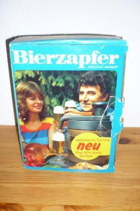 Bierzapfer (datograf), Originalkarton, für 5-Liter Partydosen