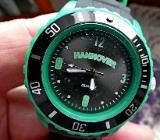 HANNOVER-Fans: Neue Sport-Armbanduhr, mit Drehlünette, Silikonarmband, ungetragen! - Diepholz