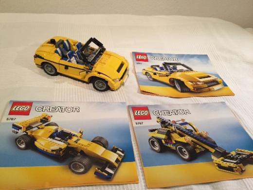 Lego Creator 5767 - gelbes Cabrio 3in1