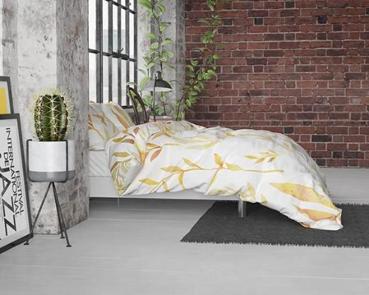 Bettwäsche Clover Cream Satin 135x200 ReVyt - Friesoythe