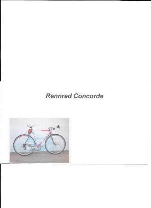 Rennrad Concorde - Lemwerder