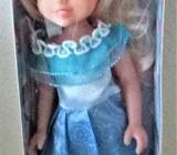 Hübsche kleine Puppe mit langem Haar 24 cm - Holdorf