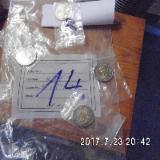 4 Stück 2 Euro Münzen Stempelglanz 14