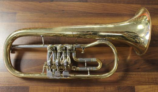 Deutsches B - Konzertflügelhorn Goldmessing, gebraucht
