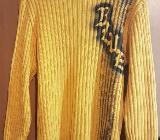 Strick Pullover von John F. Gee Größe 48/50 in gelb mit Aufdruck - Verden (Aller)