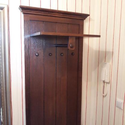 Garderobe (Schuhschrank, Schränkchen, Garderobenpaneel) dunkelbraun, Holz - Bremen