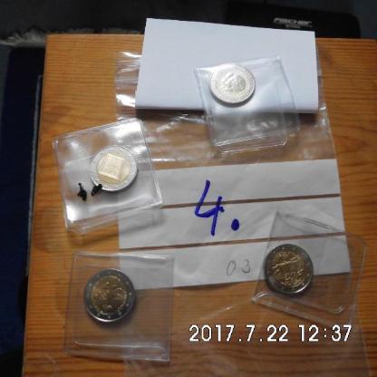 4 Stück 2 Euro Münzen Stempelglanz 4 - Bremen