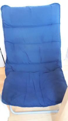 Sessel zusammenklappbar mit Metallgestell in blau - Stuhr