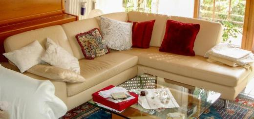 Sofa / Couch / Polsterrundecke ( Echtleder / Federkern ) - Weyhe