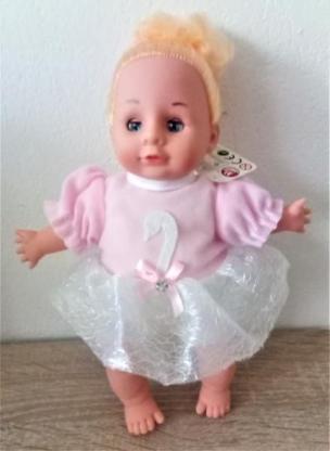Süße, kleine Babypuppe,mit blondem Haar - Holdorf