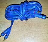 3 x Doppelt geschirmte Cinch Kabel mit isolierten Steckern vergoldet - Verden (Aller)