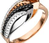Damen Ring 925 Sterling Silber tricolor  NEUWARE - Holdorf