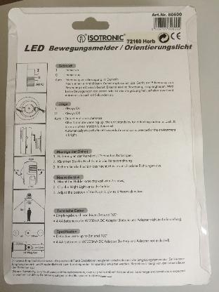 ISOTRONIC LED-Orientierungslicht mit Bewegungssensor - Bremen