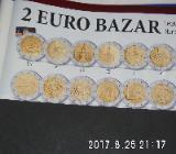 3 Stück 2 Euro Münzen aus drei Ländern Zirkuliert 23 - Bremen