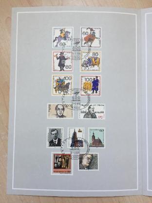 Briefmarken mit Sonderstempel zum 500-jährigen Post Jubiläum - Bremen