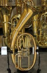 Original B&S Goldmessing Bb Tenorhorn, Modell 3032/2 mit Gigbag